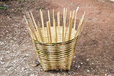 Free Bamboo Basket Royalty Free Stock Images - 19340799