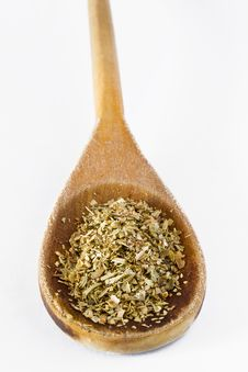Free Oregano In Wooden Spoon Royalty Free Stock Photography - 19341057