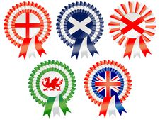 Free United Kingdom Rosettes Royalty Free Stock Photography - 19341687