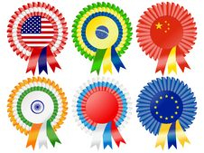 Free Super Power Rosettes Stock Photography - 19341702