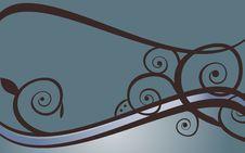 Free Blue Swirls Stock Photography - 19341762