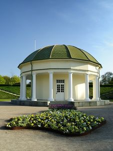 Old Architecture In Swedish Park Stock Image