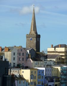 St Marys Church View In Tenby Stock Photo