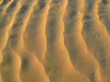 Free Sand Patterns In The Desert Stock Images - 19342474