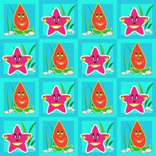 Free Cartoon Starfishes Stock Image - 19342851