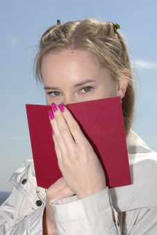 Free Female Covered Red Book Royalty Free Stock Image - 19343086