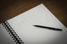 Free Making A Sketch Royalty Free Stock Photo - 19343115