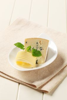 Free Blue Cheese Royalty Free Stock Image - 19343486