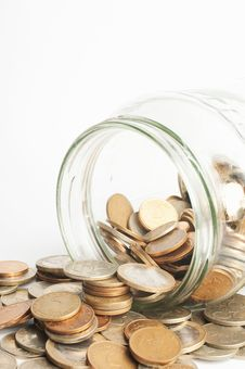 Coin Jar Stock Photo