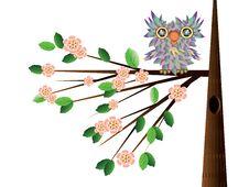 Free Owl At The Tree Stock Photo - 19344020