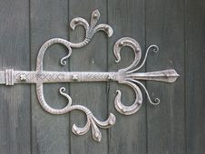 Ornamental Medieval Door Hinge Stock Photography