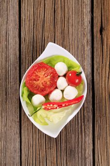 Vegetarian Appetizer Royalty Free Stock Images