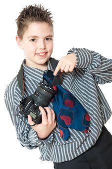 Free Boy And Camera Stock Photos - 19344603