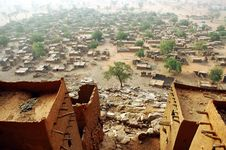 Free Looking Down On A Dogon Village Stock Photography - 19345882