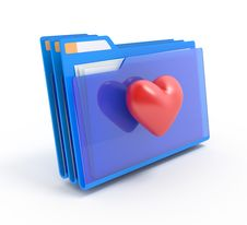 Free Folders With A Heart. Royalty Free Stock Images - 19346579