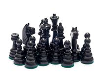 Free Black Chess Figurines Stock Image - 19347041