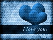 Free Love The Blue Card Royalty Free Stock Photos - 19347158