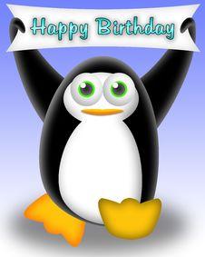 Free Penguin Happy Birthday Stock Photos - 19347373