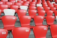 Chair Array Stock Photo