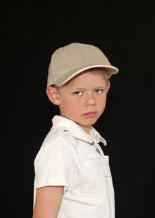Adorable Young Boy In A Baseball Hat Royalty Free Stock Photography