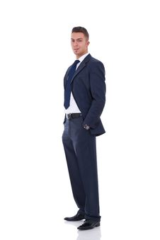 Business Man Standing With Hands In Pocket Royalty Free Stock Image