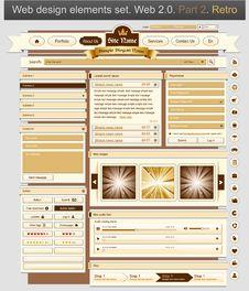 Free Web Design Set Retro 2 Stock Image - 19348851