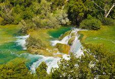Free Waterfall KRKA In Croatia Royalty Free Stock Photo - 19348915