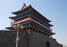 Ancient  Zhengyangmen Gate (Beijing, China) Stock Photos