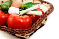 Free Wattled Basket With Vegetable Royalty Free Stock Photography - 19352337