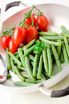 Free French Beans Inside A Pan Stock Photo - 19350640