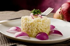 Free Risotto With Red Onions Stock Photography - 19351242