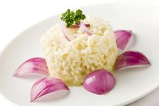 Free Risotto With Red Onions Stock Photography - 19351302