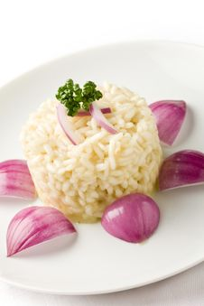 Free Risotto With Red Onions Royalty Free Stock Image - 19351386