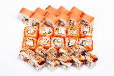 Free Salmon-Sushi & Nigiri-Sushi & California-Sushi Stock Images - 19351544