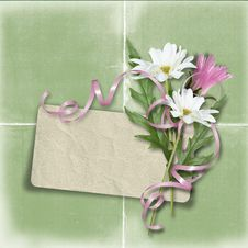 Free Retro Card For Congratulation Or Invitation With F Stock Images - 19351714