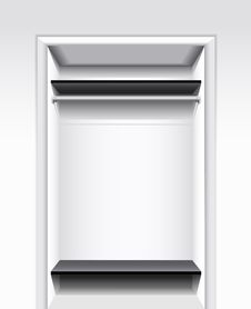 Built-in Wardrobe. Stock Photography