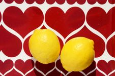 Free Two Yellow Lemons Stock Photo - 19352690
