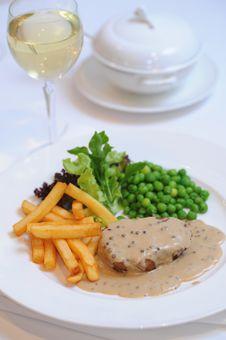 Steak For Dinner Stock Images