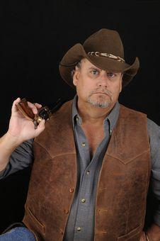 Portrait Of A Cowboy Royalty Free Stock Photos