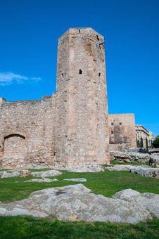 Roman Circus Tower In Tarragona Royalty Free Stock Photography