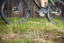 Free Backcountry Bike Rider, Focus On Grass Stock Photo - 19354530