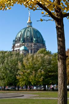 Free Berlin Cathedral Behind Trees V2 Stock Photography - 19354822