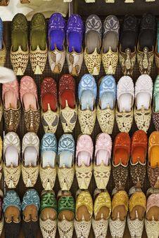 Free Colorful Shoes In Souk ,Dubai,United Arab Emirates Stock Image - 19355041