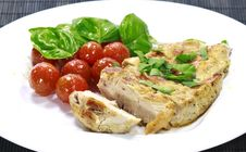 Free Chicken Steak With A Tomato Salad Royalty Free Stock Photography - 19355757