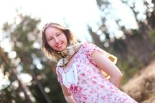Free Beautiful Woman In A Sunshine Stock Image - 19355761