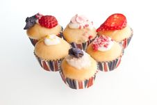 Free Strawberries & Cream Mini Muffins Royalty Free Stock Photography - 19356277