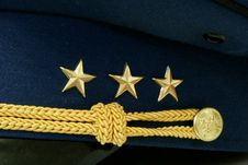 Free Military Rank On Cap Royalty Free Stock Images - 19356279