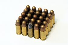 Free Old Dusty Browning Bullets Stock Photography - 19356332