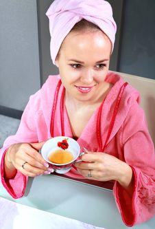 Free Woman Drinks Tea Royalty Free Stock Photo - 19357175