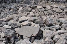 Broken Bricks And Stones Stock Image